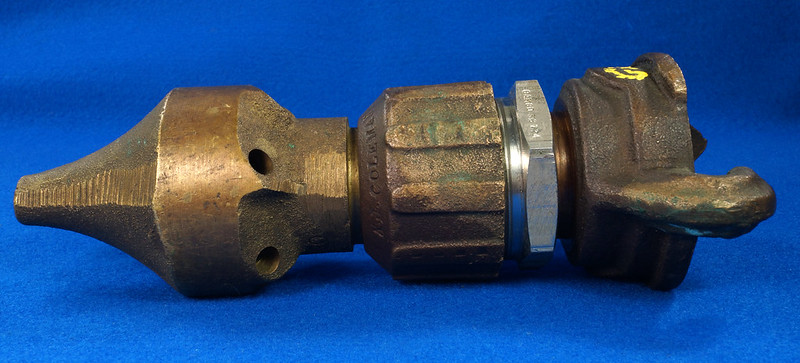 RD19793 Vintage Brass A.J. Coleman Chicago 6 Hole Pipe Clearing Cleaning Water Nozzle DSC06376