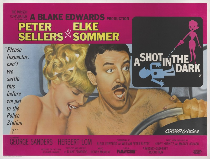 Poster UK du film Quand l'inspecteur s'emmêle (A Shot in the Dark, Blake Edwards, 1964)