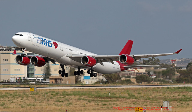 9H-EAL LMML 30-05-2020 Maleth Aero Airbus A340-642 CN 622