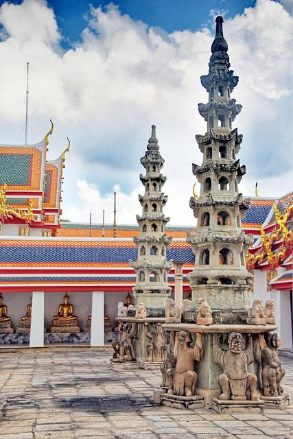 Chedi at Wat Pho, Bangkok, Thailand.