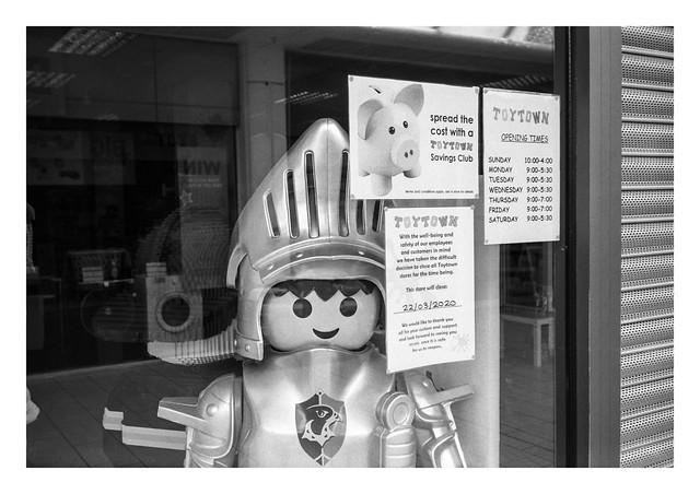 Pandemic scenes - Guarding Toytown