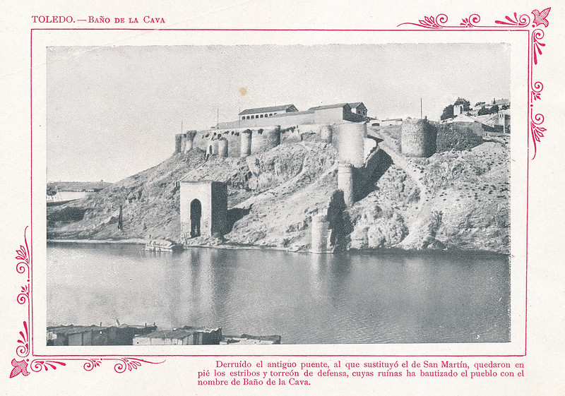 """Baño de la Cava  hacia 1910. Publicada en """"Portfolio Fotográfico de España (cuaderno nº 3)"""" por Alberto Martín a iniciativa de Ceferino Rocafort"""