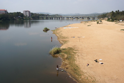 india kerala plage pont rivière