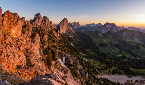 jaun kantonfreiburg schweiz sunset gastlosen panorama switzerland fribourg sonneuntergang