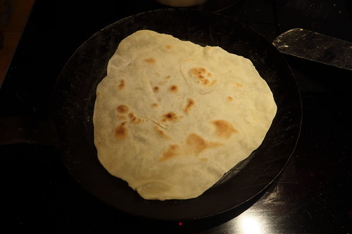 Chapati (noch in der Pfanne)