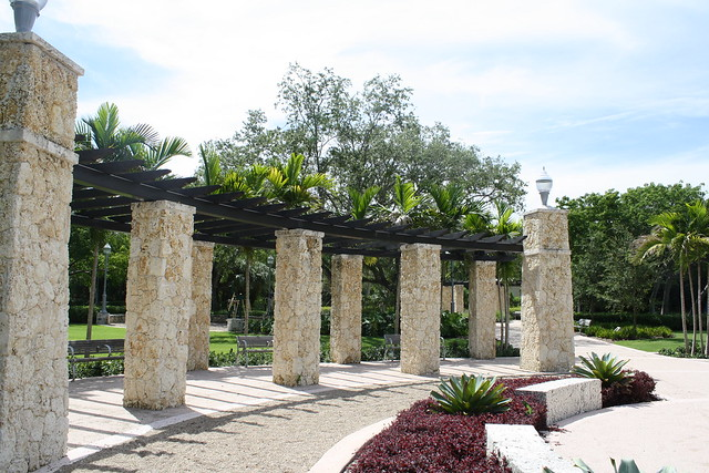 Coral and Wood Frames Pergola