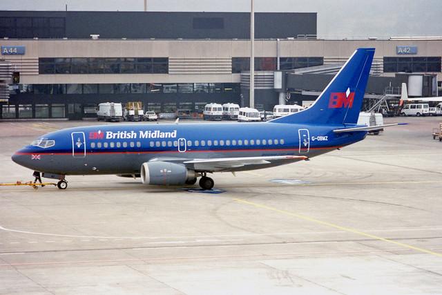 British Midland Airways - BMA Boeing 737-53A G-OBMZ