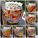 Mosaic candle holder-rainbow