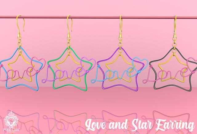 Love and Star Earring