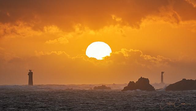 Coucher de soleil sur la pointe de Pern