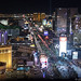 Las Vegas Strip at Night Aerial View