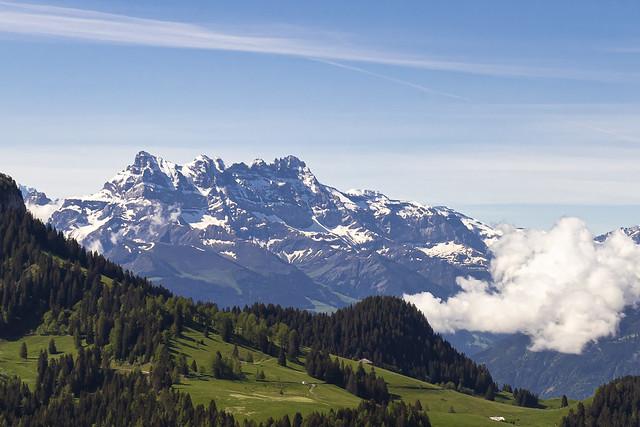 Vue sur les dents du midi, depuis Malatraix - Suisse