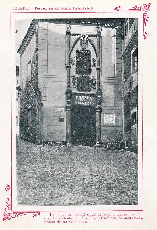 """Posada de la Hermandad hacia 1910. Publicada en """"Portfolio Fotográfico de España (cuaderno nº 3)"""" por Alberto Martín a iniciativa de Ceferino Rocafort"""