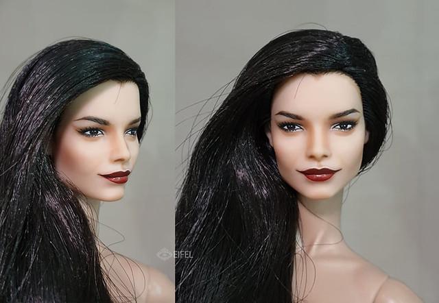 repaint barbie Natalia vodianova