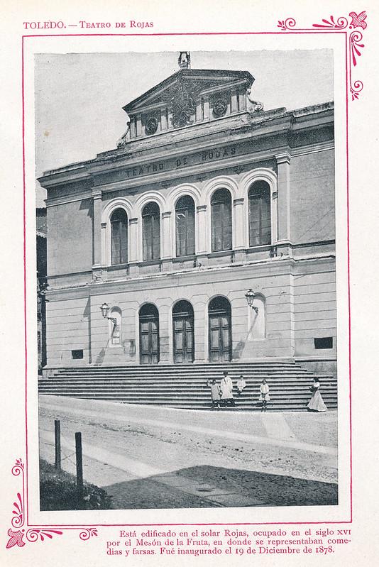 """Teatro de Rojas  hacia 1910. Publicada en """"Portfolio Fotográfico de España (cuaderno nº 3)"""" por Alberto Martín a iniciativa de Ceferino Rocafort"""