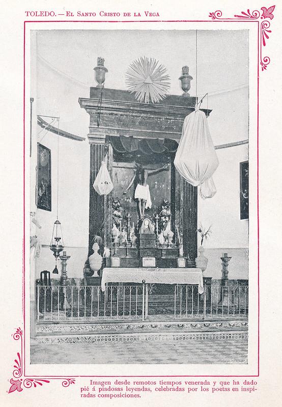 """Cristo de la Vega  hacia 1910. Publicada en """"Portfolio Fotográfico de España (cuaderno nº 3)"""" por Alberto Martín a iniciativa de Ceferino Rocafort"""
