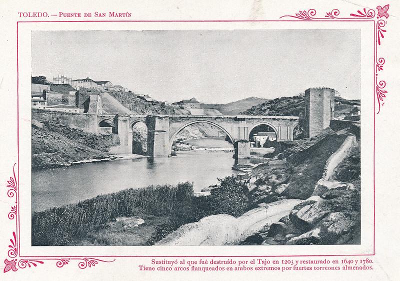"""Puente de San Martín  hacia 1910. Publicada en """"Portfolio Fotográfico de España (cuaderno nº 3)"""" por Alberto Martín a iniciativa de Ceferino Rocafort"""