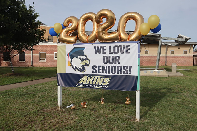 Akins Senior Send-Off Parade 2020
