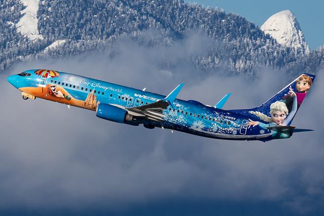 WestJet Boeing 737-8CT (C-GWSV)