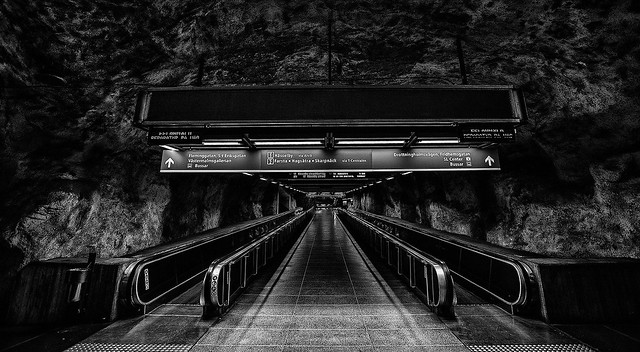 Fridhemsplan metro station. From the cycle