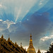 Sunset over the Shwedagon Pagoda (Yangon, Myanmar 2013) by Alex Stoen