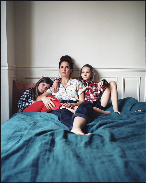 Pauline and her daughters, at home, Montmartre, Paris