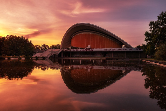 House of cultures at sunrise in Berlin