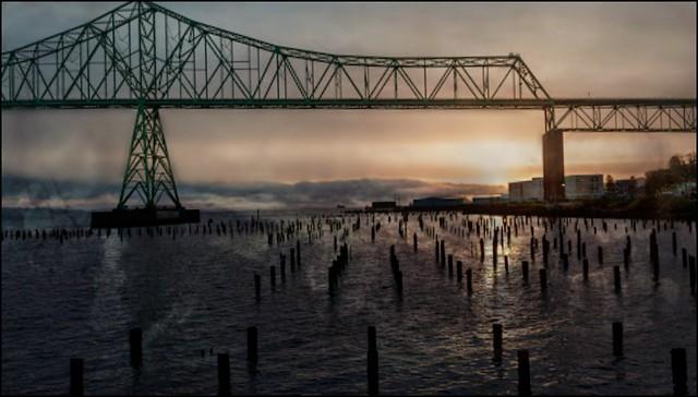 Columbia River Bridge in Oregon