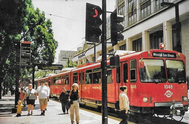 San Diego - California  - MTS Transit Street Car - Gaslight District