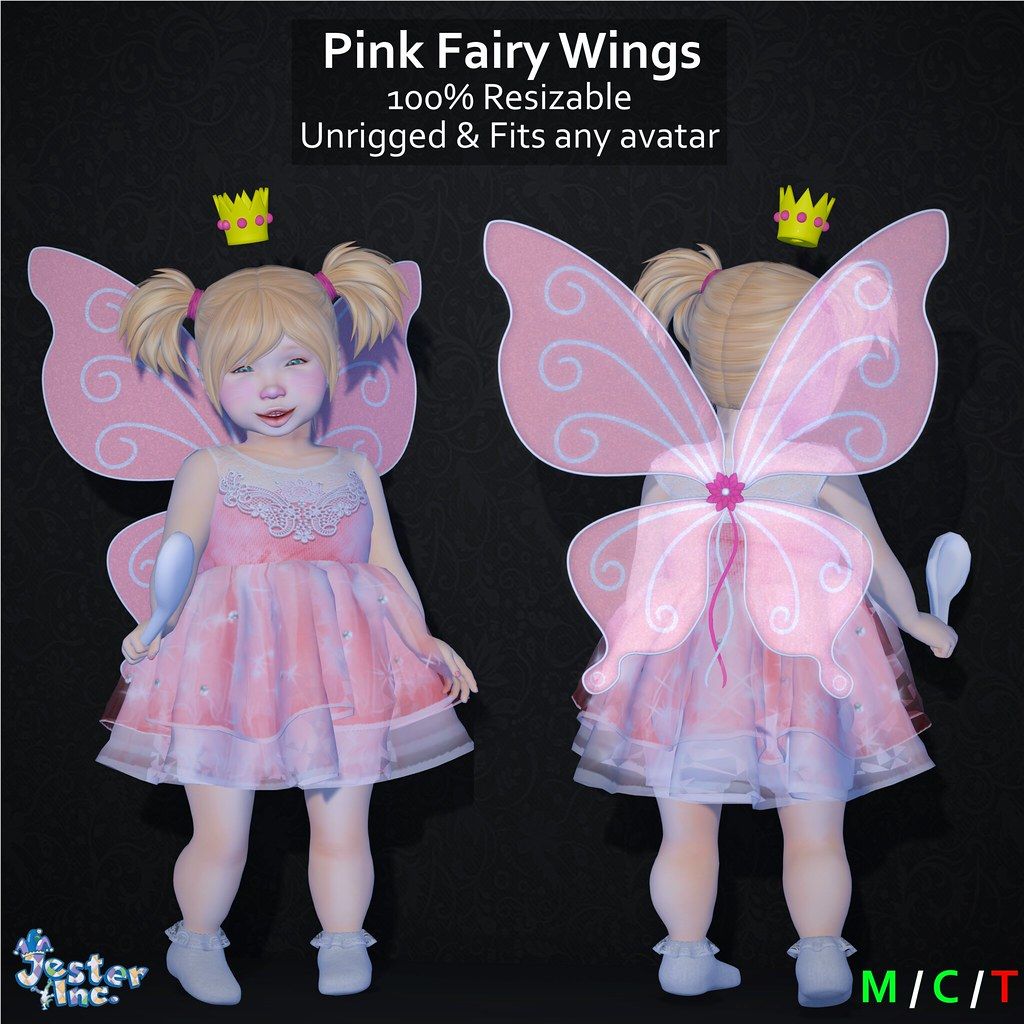 Presenting the new Pink Fairy Wings from Jester Inc.