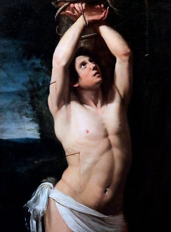 IMG_5568 Sarzana  (Domenico Fiasella) 1589-1669  Saint Sébastien ca 1620  Brescia Pinacoteca Tosio Martinengo