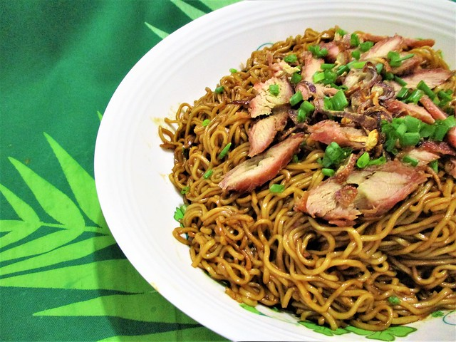 Bovril mee with char siew