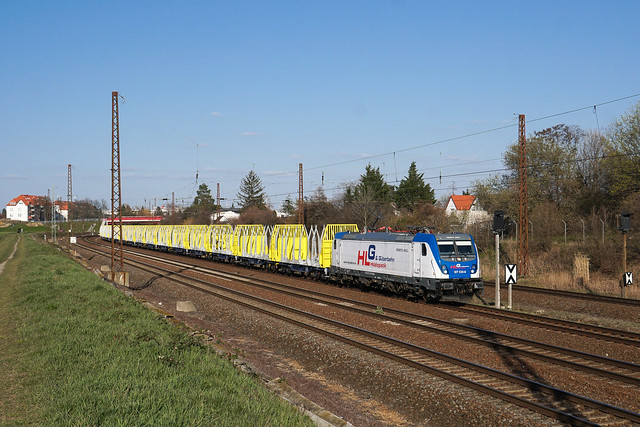 187 330 HLG - Holzlogistik and Güterbahn GmbH | Leipzig-Wiederitzsch | April 2020