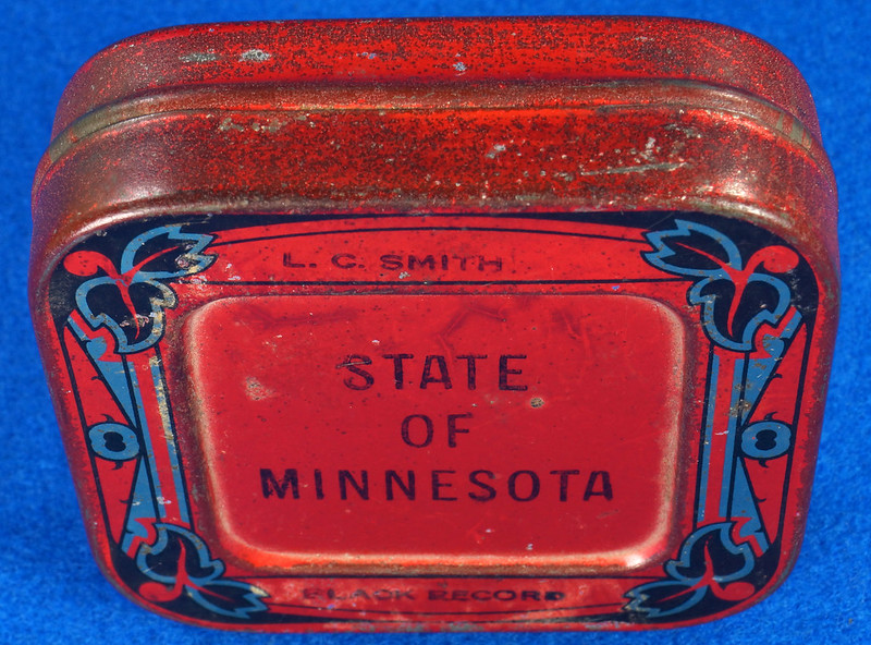 RD29478 Rare State of Minnesota Typewriter Ribbon Tin L.C. Smith DSC06440