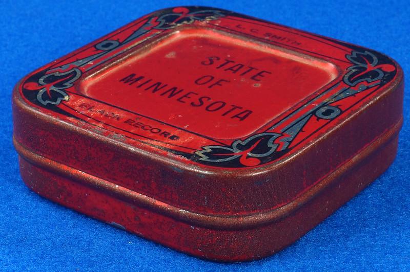 RD29478 Rare State of Minnesota Typewriter Ribbon Tin L.C. Smith DSC06437