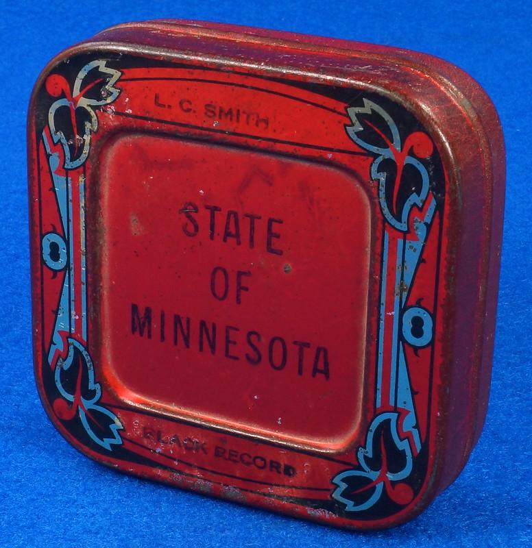 RD29478 Rare State of Minnesota Typewriter Ribbon Tin L.C. Smith DSC06435