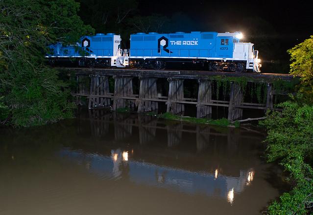 Rock Island Rail RI 4373 (GP38) Swan Lake, Mississippi