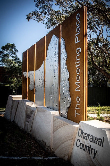 The Meeting Place, Dharawal Country, Kurnell sign