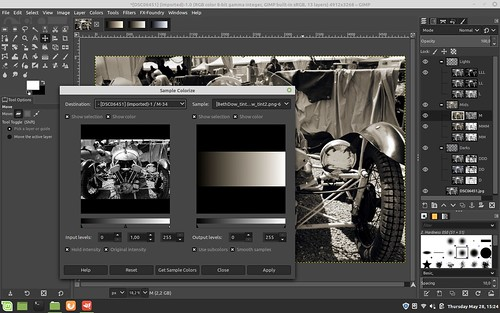 Super Selective tone mapping in the Gimp
