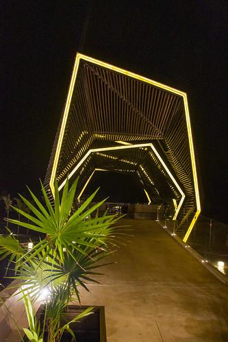 Multi denominational structure at night, Royalton Riviera Cancun Resort & Spa, Mexico