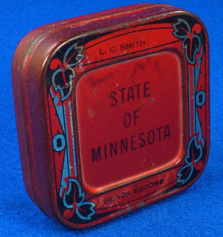RD29478 Rare State of Minnesota Typewriter Ribbon Tin L.C. Smith DSC06436