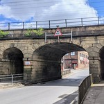 Triple arch railway bridge on Fylde Road, Preston