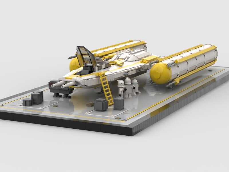 Y Wing and landing pad