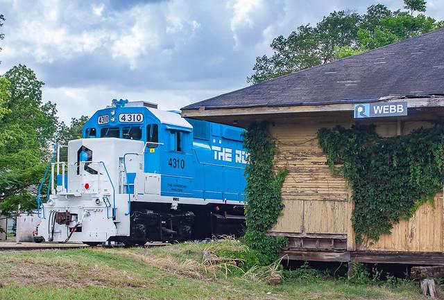 Rock Island Rail RILX 4310 (EMD GP38) Webb, Mississippi