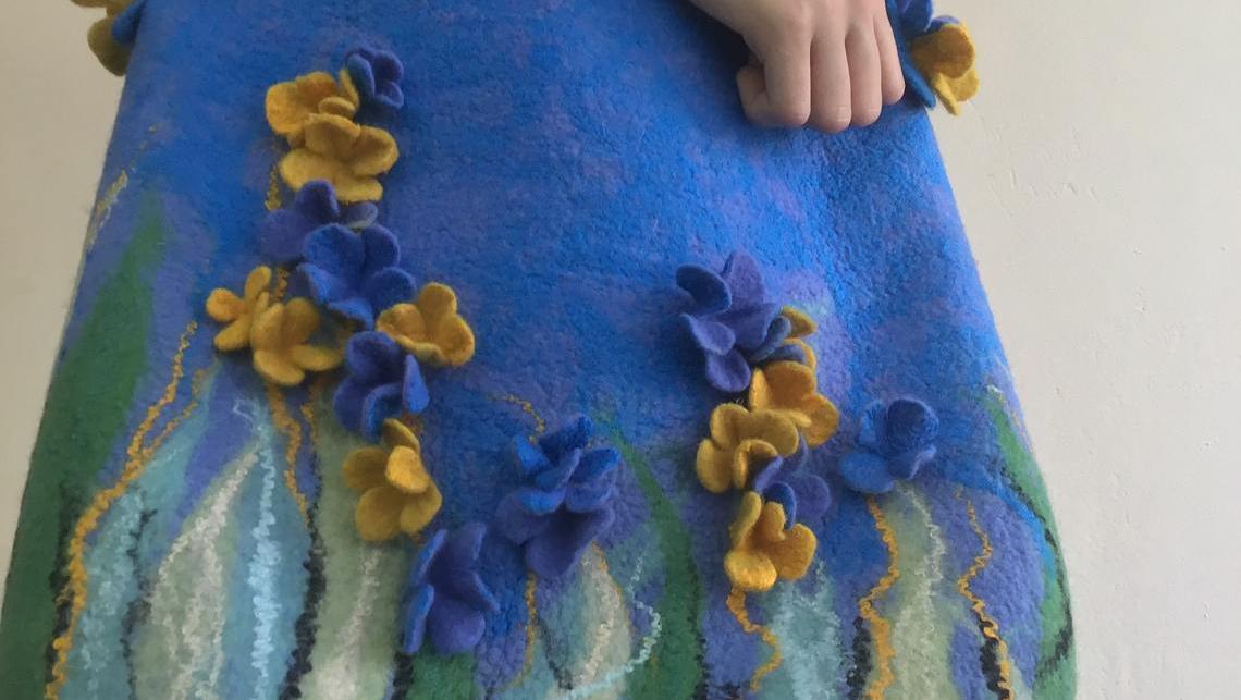 Эскиз росписи сумки