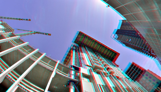 Zalmhaventoren Rotterdam 3D Rokinon 8mm fish-eye