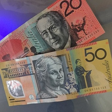dinheiro colorido