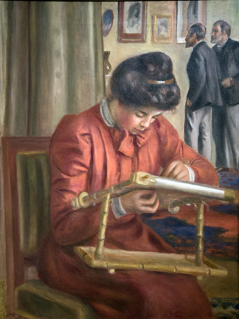 Christine Lerolle Embroidering, c. 1896