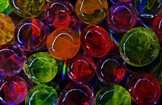 Multi-coloured balls