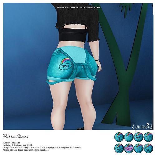 Epicine - Tarra Shorts - Moody Teals Ad